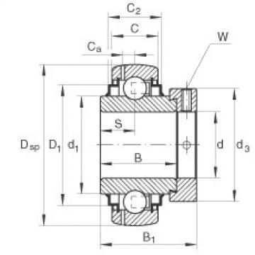 Bearing GNE80-KRR-B INA